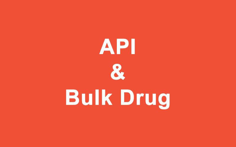 API & Bulk Drug